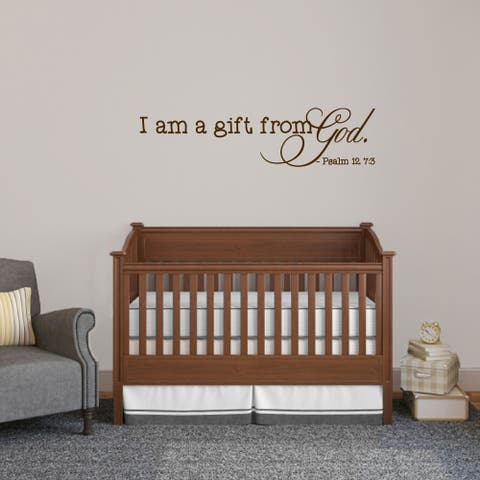 I am Gift from God Wall Decal