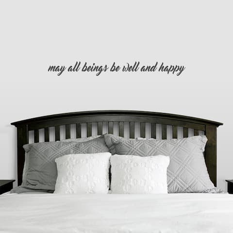 May All Beings be Well and Happy Wall Decal