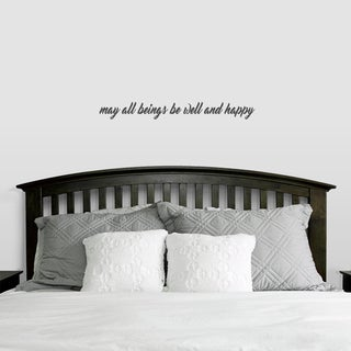 May All Beings be Well and Kind Wall Decals