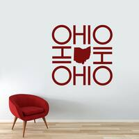 Ohio Ohio Ohio Ohio Wall Decal