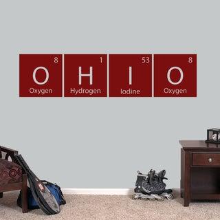 Ohio Perdiodic Table Wall Decal