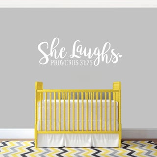 She Laughs Wall Decal (More options available)