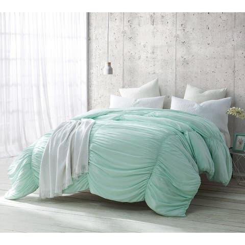 BYB Hint of Mint Waves Handcrafted Series Comforter (Shams Not Included)