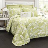Lush Decor Leafs 8 Piece Comforter Set