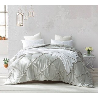 BYB Silver Birch Gathered Ruffles Handcrafted Series Comforter (Option: Twin Xl)