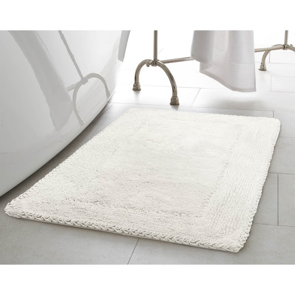 Laura Ashley Ruffle Cotton 17-inch x 24-inch Bath Rug