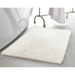 Laura Ashley Ruffle Cotton 17-inch x 24-inch Bath Rug