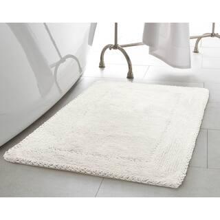 Laura Ashley Ruffle Cotton 17 Inch X 24 Bath Rug