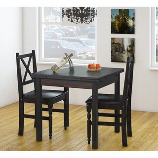 Miranda 3-piece Dining Set with 2x dropleaf
