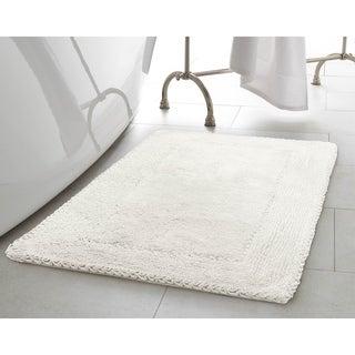 Laura Ashley Ruffle Cotton 2-Piece Bath Rug Set