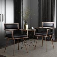 Shop Marquee Mid Century Black Croc Arm Chair Set Of 2
