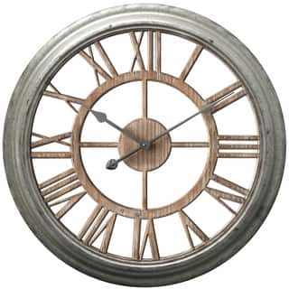 Infinity Instruments Ole Fashion Round 26-inch Wall Clock|https://ak1.ostkcdn.com/images/products/14228360/P20819849.jpg?impolicy=medium