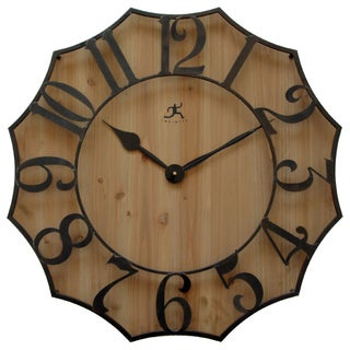 Infinity Instruments Black Metal on Wood 26.75-inch Webbed Wall Clock