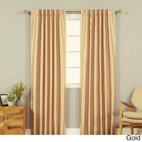 Aurora Home Candy Stripe Faux Silk Curtain Panel - 52 x 84 - 52 x 84