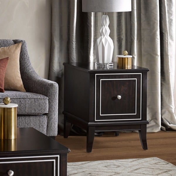 Madison Park Signature Transitional Everleigh Ebony End Table