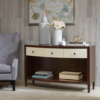 Madison Park Signature Dunkin Morocco Brown/ Ivory Console Table