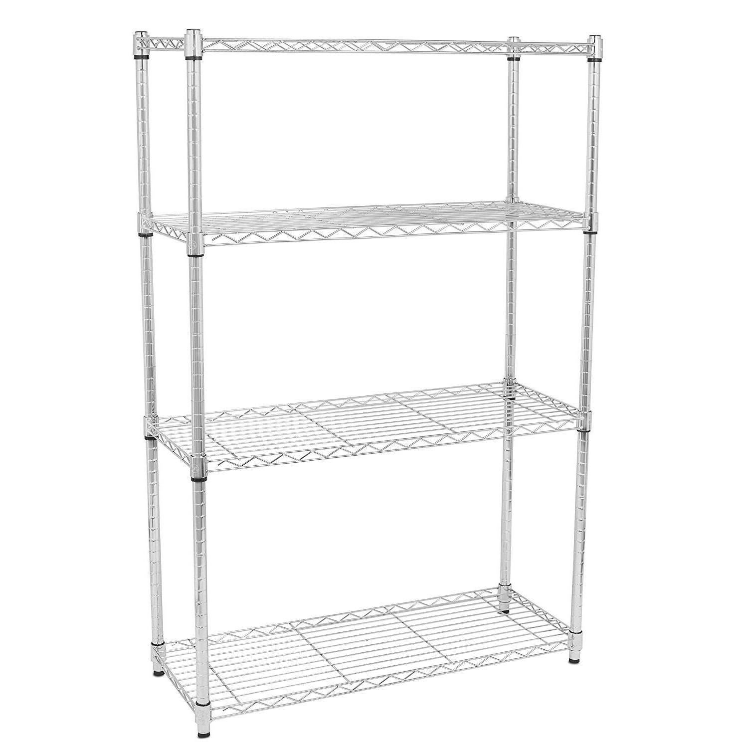 Internet's Best 4-tier Wire Shelving (Chrome Heavy Duty S...