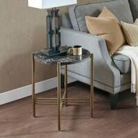 Madison Park Signature Transitional Rowen Bronze Side Table
