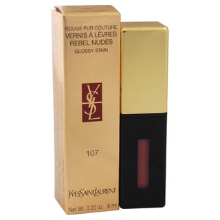 Yves Saint Laurent Rouge Pur Couture Vernis A Levres Rebel Nudes Glossy Stain 107 Naughty Mauve
