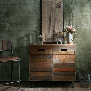 INK+IVY Renu Industrial Rustic Light Brown Multi Chest