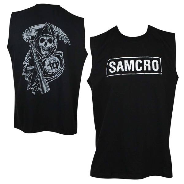 Sons Of Anarchy SAMCRO Black Cotton Muscle Tank Top