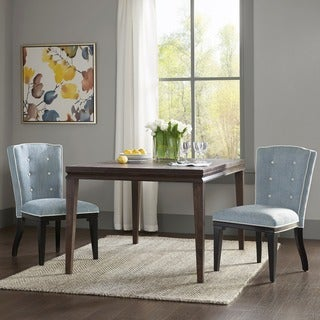 Madison Park Signature Twyla Light Blue/ Black Dining Chair (Set of 2)