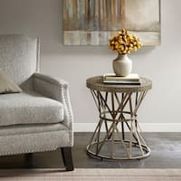 Madison Park Contemporary Gaven Antique Bronze Accent Table