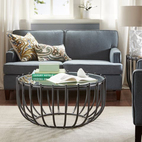 Madison Park Contemporary Bentely Graphite Coffee Table