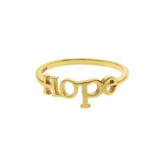 Eternally Haute Solid Sterling Silver 'Hope' Ring (3 options available)