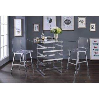 Acme Furniture Nadie Glass Counter Height Table - Silver