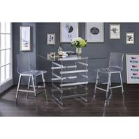 Acme Furniture Nadie Glass Counter Height Table