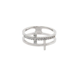 Eternally Haute Pave Cross Wrap Ring