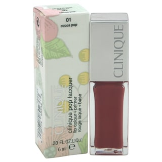 Clinique Pop Lacquer Lip Colour + Primer 01 Cocoa Pop