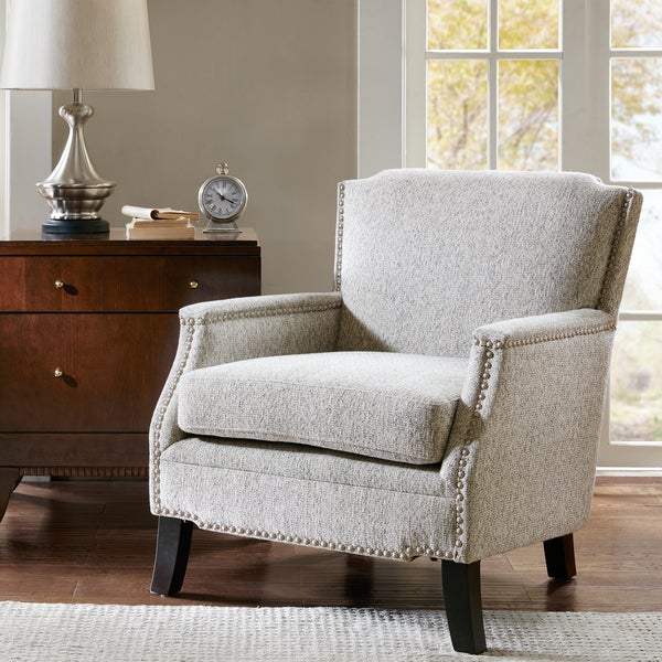 Angelina Accent Chair By Madison Park: Madison Park Monique Grey Accent Chair
