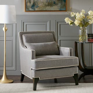 black living room chair. Madison Park Signature Collin Grey  Black Arm Chair Living Room Chairs For Less Overstock com