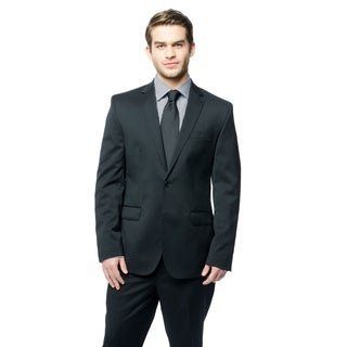 Kenneth Cole New York Men's Black Wool-blend Performance Suit