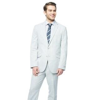 Kenneth Cole Reaction Light Grey Sharkskin Suit
