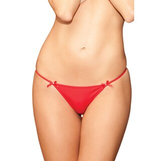 Women's Polyester Panty with Diamond G-String
