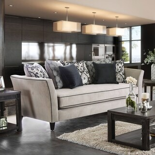 Seran Contemporary Premium Velvet Sofa by Furniture of America