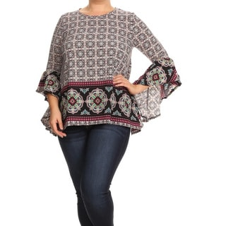 Women's Multicolor Plus-size Abstract Tunic