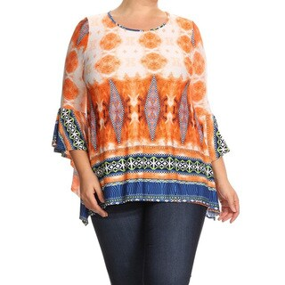Women's Mint Plus-size Abstract Tunic