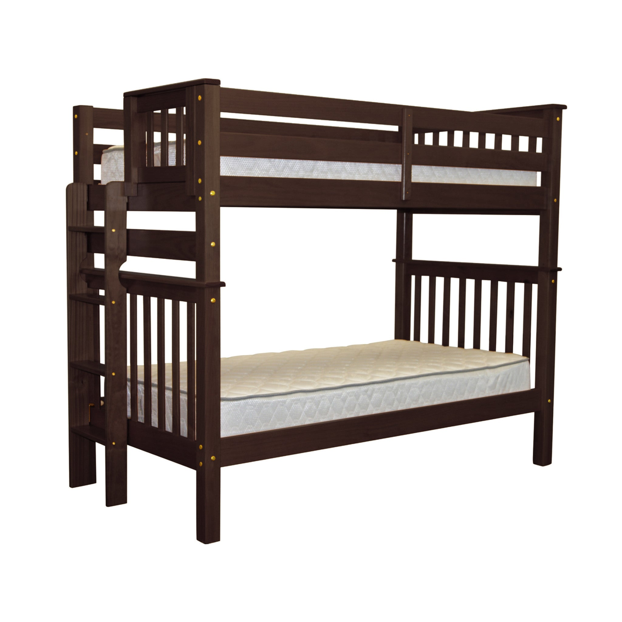 RoomMates Bedz King Tall Mission Style Bunk Bed Twin over...