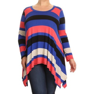 Women's Plus-size Striped Tunic