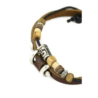 Versatile Brown Leather Essential Oil Diffuser Bracelet