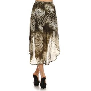 Women's Brown Cheetah Print Semi-sheer Skirt