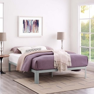 Corinne King Bed Frame (Option: Brown Finish)