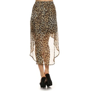 Women's Cheetah-print Semi-sheer Skirt