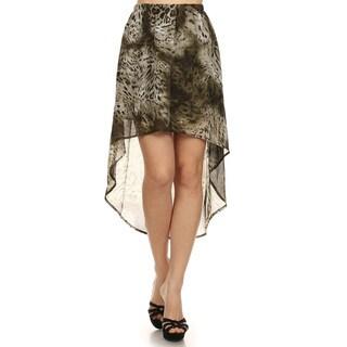 Women's Brown Cheetah-print Semi-sheer Skirt (3 options available)