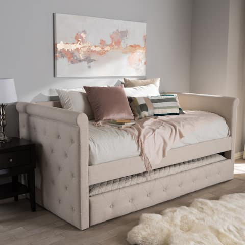 Taylor & Olive Twin Pond Contemporary Fabric Daybed with Trundle