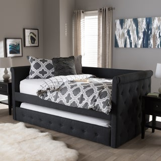 Contemporary Fabric Daybed with Trundle by Baxton Studio (3 options available)